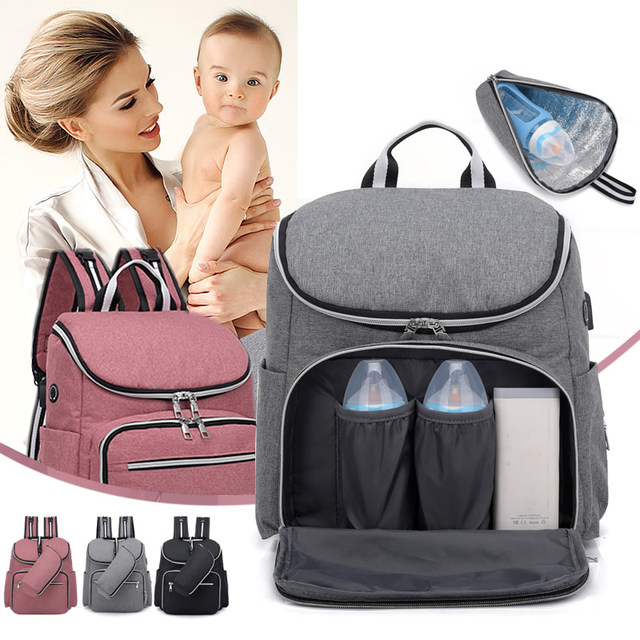 446fb8cfd05 US $23.54 |Fashion USB Charging Large Capacity Baby Bag Travel Backpack  Designer Nursing Bag for Baby Mom Backpack Women Carry Care Bags-in  Backpacks ...