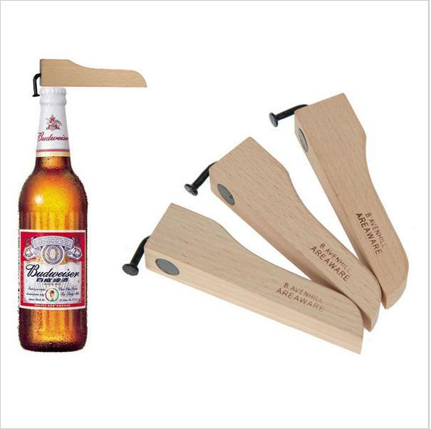Wooden Environmental Magnetic Beer Bottle Opener