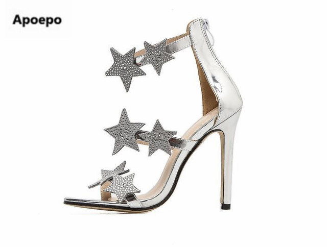 a3cb7882efbcb US $60.78 |sales Brand Super star style sandals women bling bling crystal  wedding shoes bride high heels shoes women summer pumps sliver-in High  Heels ...