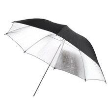 102 см/40 дюймов studio Фото Строб вспышка света отражатель черный, серебристый цвет мягкий Umbrella