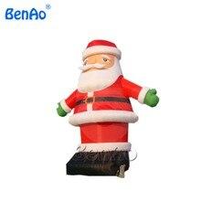 X073 6 м Высокое привлекательный большой Открытый Новогоднее украшение коммерческих надувные Дед Мороз с вентилятором