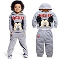 winter autumn children's clothing fleece suits Mickey kids hoodies + pants 2 pcs children sports suit boys clothes set retail