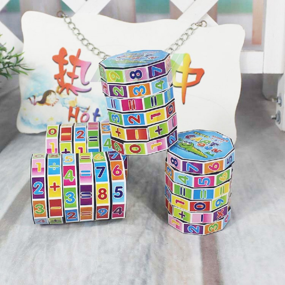 7*5.5CM Fashion Mathematics Numbers Magic Cube Toy Puzzle Game for ...