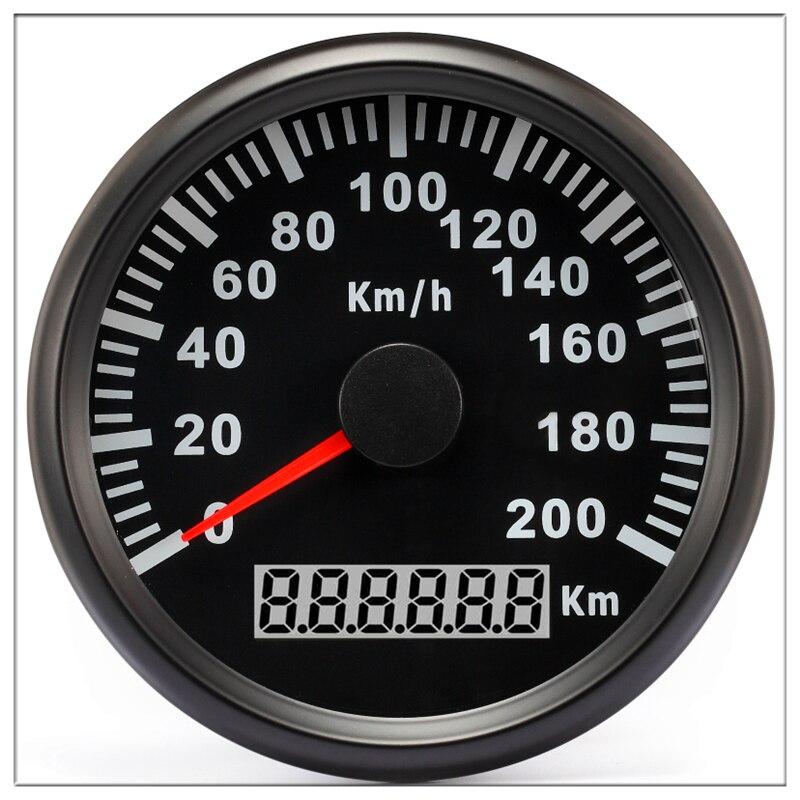 GPS Speedometer Speed Gauge Pointer display Odometer 85 mm 200 kmh ATV UTV Motorcycle Marine Boat