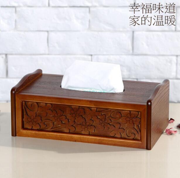 2017 boîte en bois de haute qualité organiseur chinois traditionnel boîte en bois rétro boîtes en bois chinois Oblong dessin