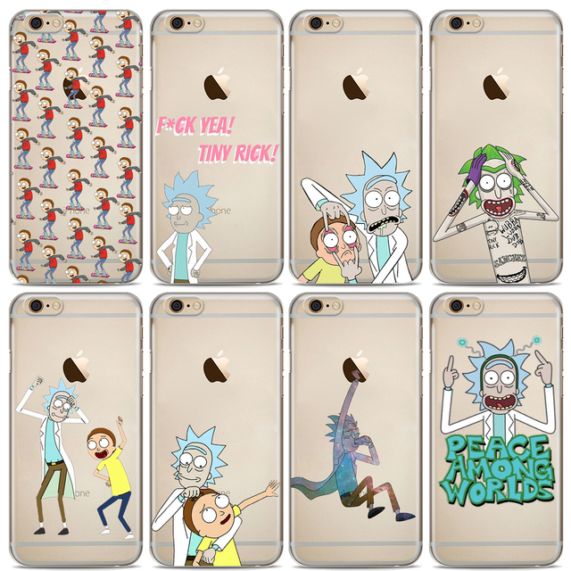 official photos db917 a31c1 US $1.22 |Funny Rick and Morty Phone Case For iphone X XS Max XR 8 8Plus 7  7Plus 6 6S 6Plus 5 5S SE Soft Silicone Cases Cover-in Fitted Cases from ...