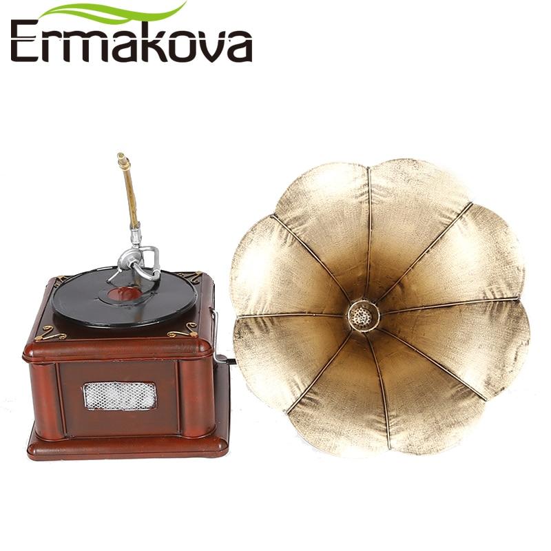 ERMAKOVA Металевий Ретро Фонограф Модель - Домашній декор - фото 4