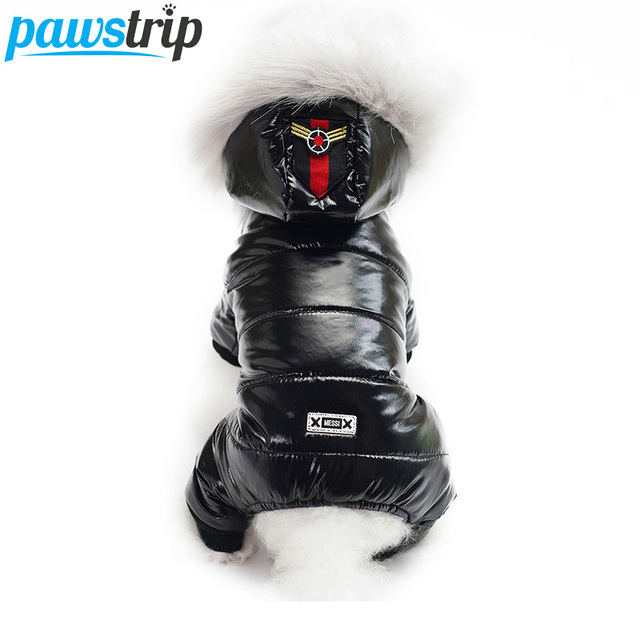 pawstrip 3 Colors Pet Dog Jumpsuit Winter Dog Clothes Soft Thickening Warm Puppy Coat Ski Suit For Small Dogs Pet Apparel Outfit