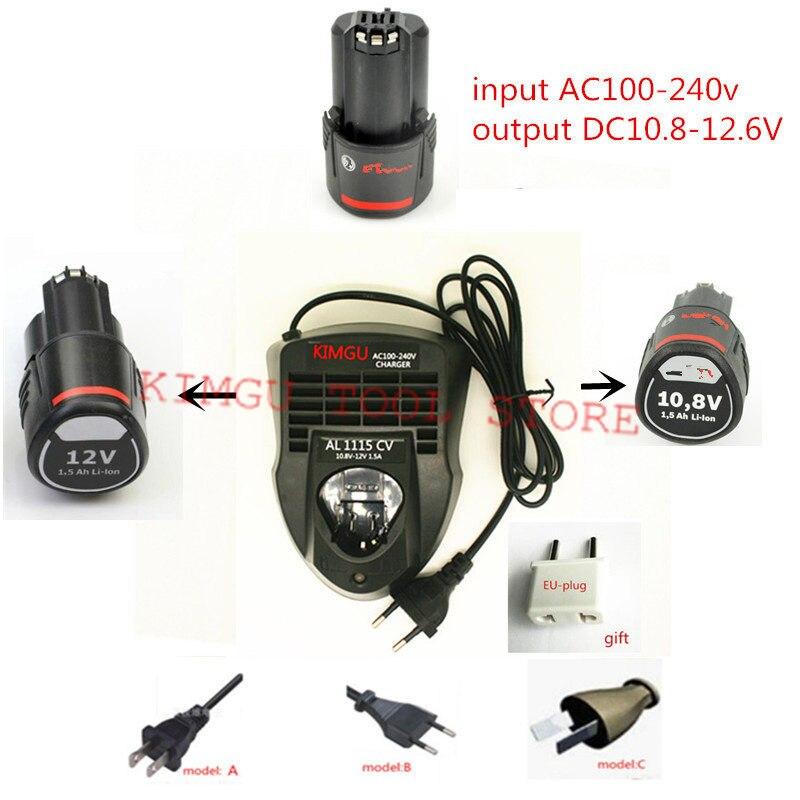 Charger Replace For Bosch AL1115CV  12V BAT414 GWB12V-10 GSA12V-14 GDS12V-26 GOP12V-LI GSR12-2-LI GDR12V-105 GWS12V-76