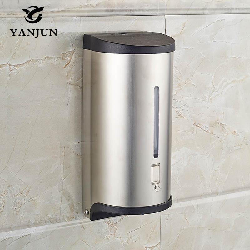 Yanjun 800 мл настенный автоматическое мыло диспенсер для жидкого мыла Touchless аксессуары для ванной YJ-2517
