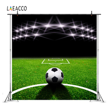 Laeacco Stadium Football Field Match Scene Lights Photography Backgrounds Customized Photographic Backdrops For Photo Studio outdoor inflatable soapy stadium football field water soap football game
