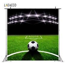 цена Laeacco Stadium Football Field Match Scene Lights Photography Backgrounds Customized Photographic Backdrops For Photo Studio онлайн в 2017 году