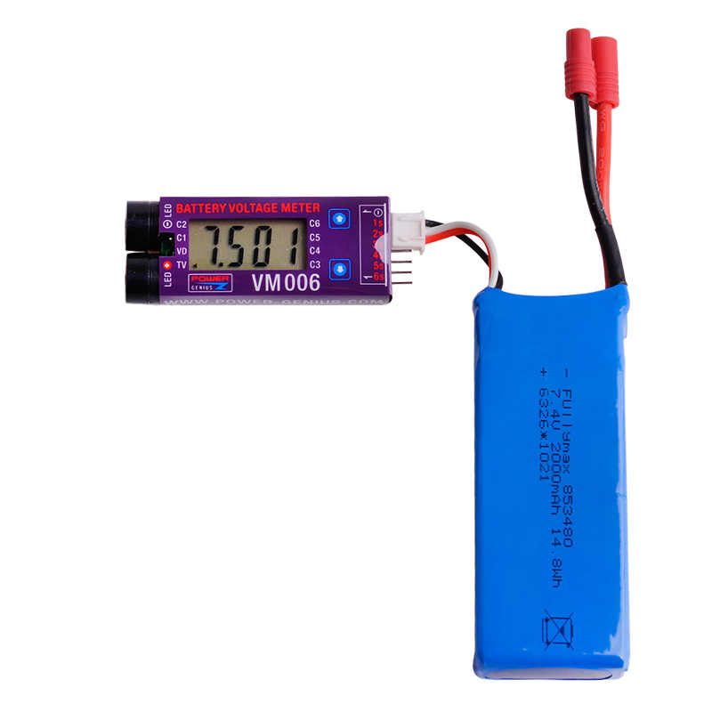 1pcs VM006 1-6S LiPo Battery Accurate Battery Voltage Meter LCD Liquid Crystal Display Alarm