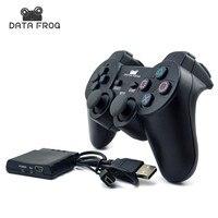 Bluetooth 2.4 ГГц Беспроводной Игровые контроллер с ручкой приемник для Sony Playstation PS2 для Sony Playstation PS3 для ПК
