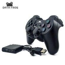 DATA FROG беспроводной контроллер для PS2 sony Playstation 2 с ручкой приемник Bluetooth 2,4 ГГц для sony Playstation PS3 для ПК