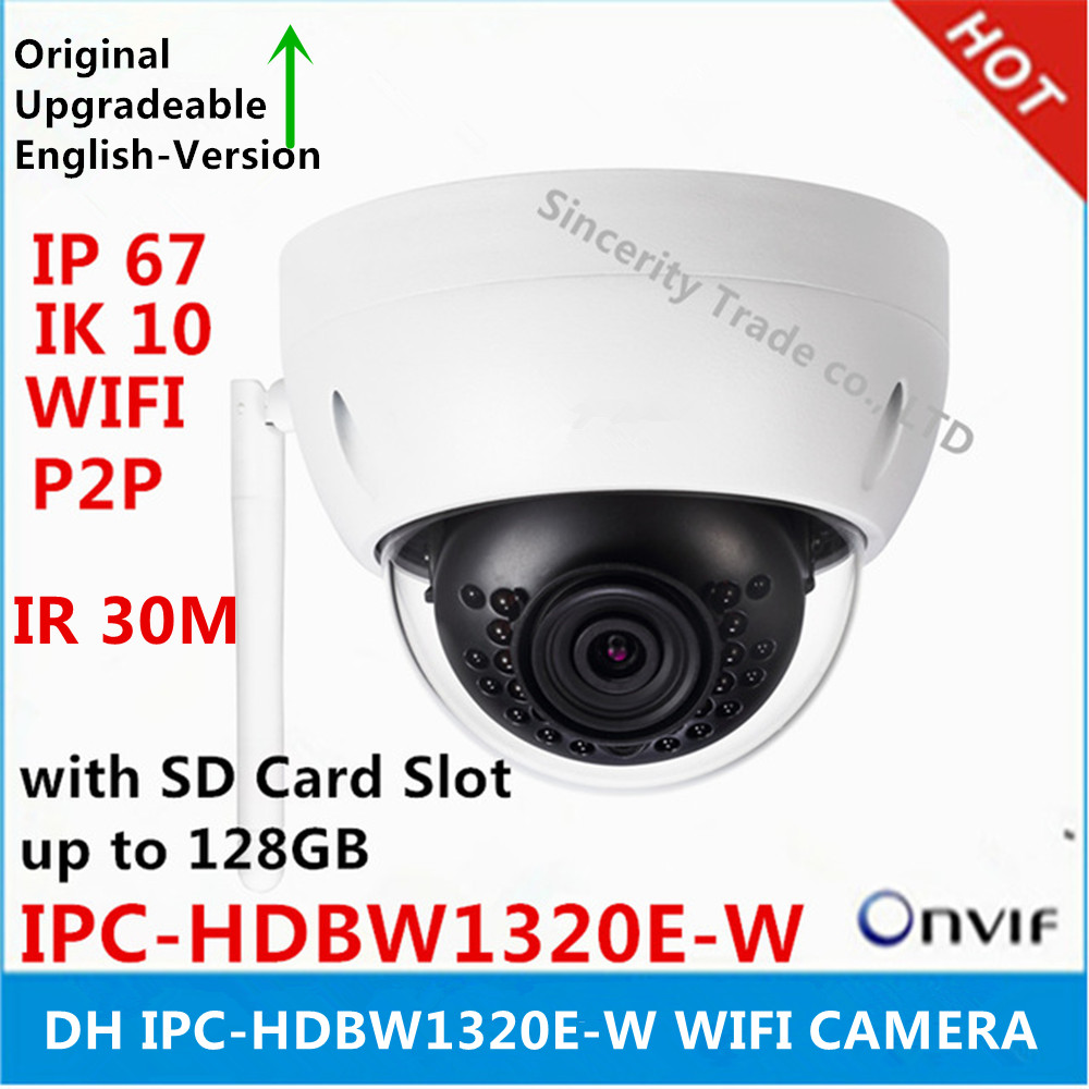 DH IPC HDBW1320E W 3MP IP Camera IR30M IP67 built in SD Card slot Network outdoor
