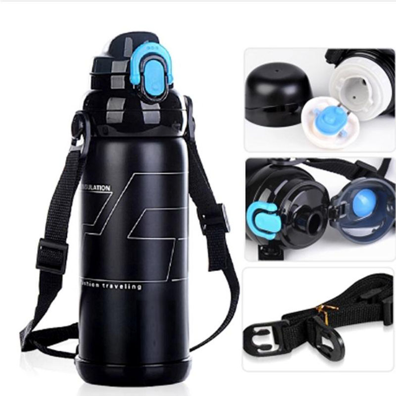 BAISPO Stainless Steel Eco-Friendly Portable 800ml Travel Camping Vaccum Cup Insulated Thermos Mug Thermal Water Bottle