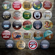 [ WellCraft ] BEER COFFEE MOM BBQ PIZZA CAKE Metal Signs Wall Plaque Poster Decor for Internet cafes Room Iron Painting HY-1700
