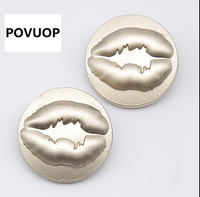 POVUOP кнопка кнопка металла Золота металлический круг шаблон пальто костюм кнопки 25 мм