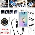 1 M 7mm Lente HD 480 P USB Endoscópio Tubo De Inspeção Camera Serpente Tubo À Prova D' Água 6 LEDs Para Android telefone PC