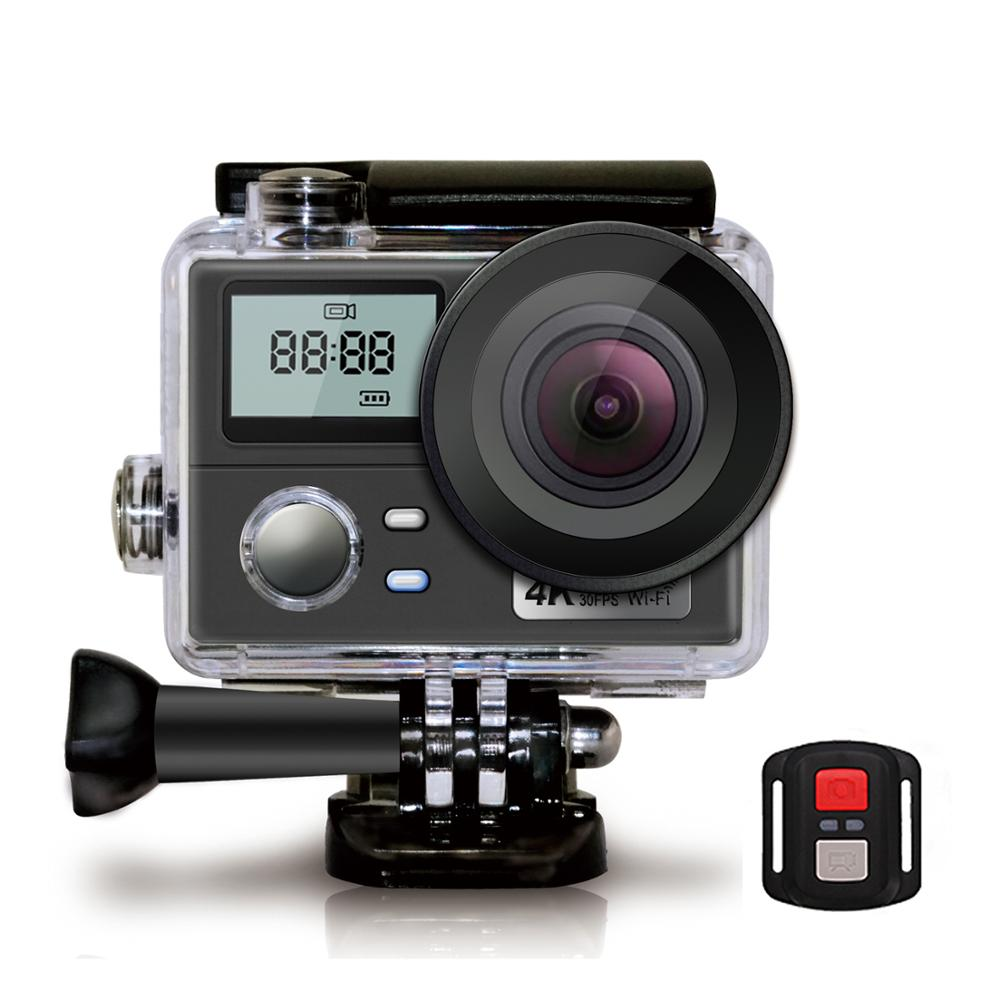 Ultra HD 4K Action Kamera Dual Screen 1080P Sport Cam Outdoor Kamera Unterstützung 64G TF Karte WiFi fernbedienung Wasserdichte Kamera