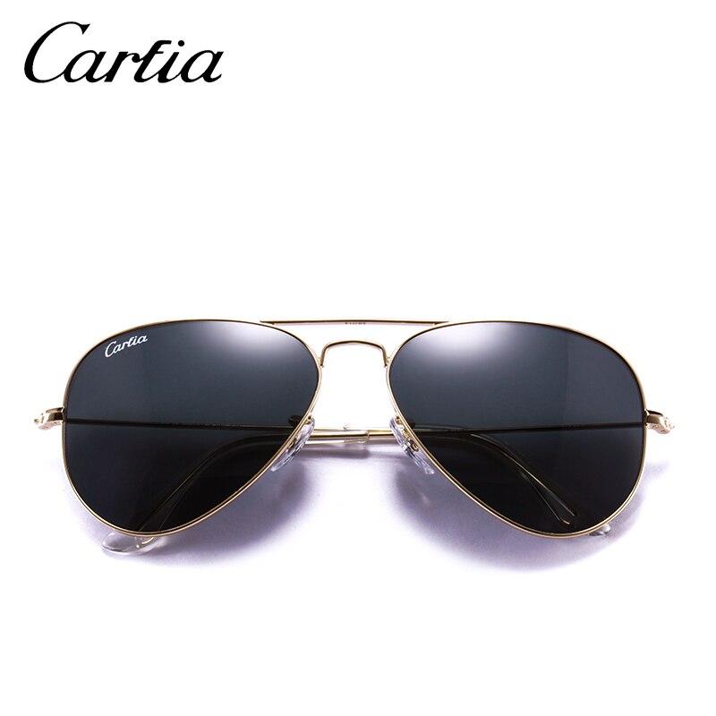 a72242d53ba9 CARFIA Black Aviator Sunglasses Fashion Metal Frame Sunglasses for Women  Men 100% UV protection Glasses Dark Lenses Sunglasses-in Sunglasses from  Apparel ...