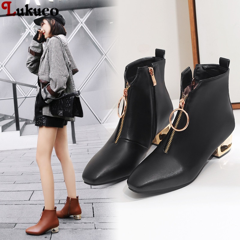 Lukuco 2018 New Women Boots Classic Winter Botas Large Size 42 43 44 45 46 47 48 Handmade High Quality Free Shipping Shoes Woman 2019 lukuco winter warm plush women boots oversize 38 39 40 41 42 43 44 45 46 high quality botas custom handmade pu lady shoes