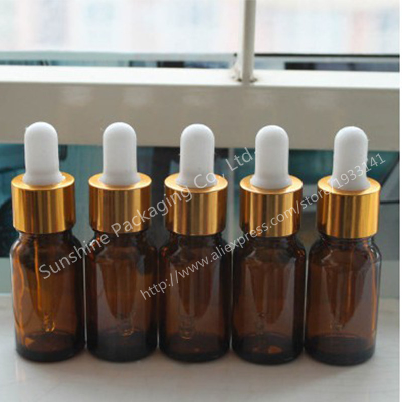 Free Shipping 200x10ml amberbrown glass bottle with dropper, Small shading glass bottle, 10cc glass essential oil container