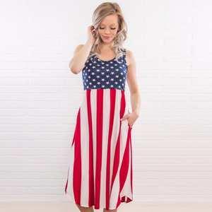 136c49bae11 S4LIU Summer Women Stripes Sleeveless Casual Tank Dress