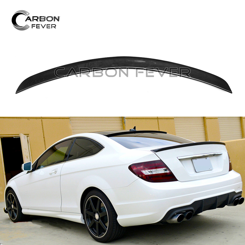 For <font><b>Mercedes</b></font> W204 Rear Spoiler Wing C Class 2-door <font><b>Coupe</b></font> C250 <font><b>C300</b></font> C350 2007 - 2014 Carbon Fiber Spoiler image