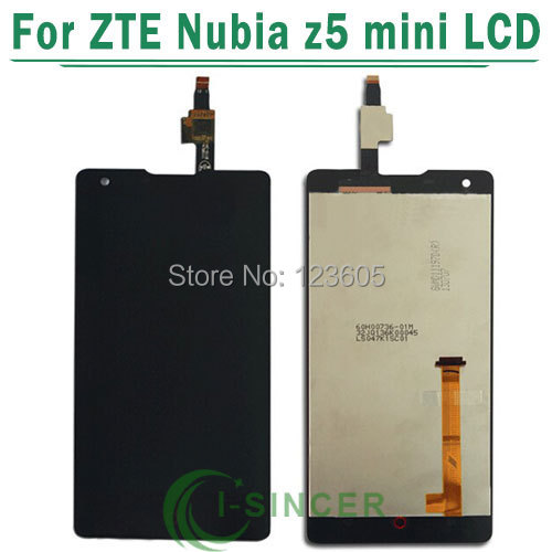 1/PCS LCD Screen + touch screen Assembly Replacement for ZTE Nubia Z5 mini NX402 with tracking number-Black
