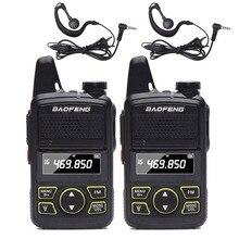 2Pcs BAOFENG BF T1 MINI Two WayวิทยุUHF 400 470Mhz 20CH BFT1 แบบพกพาWalkie Talkieง่ายพกพาBF T1 2 ชุดหูฟัง