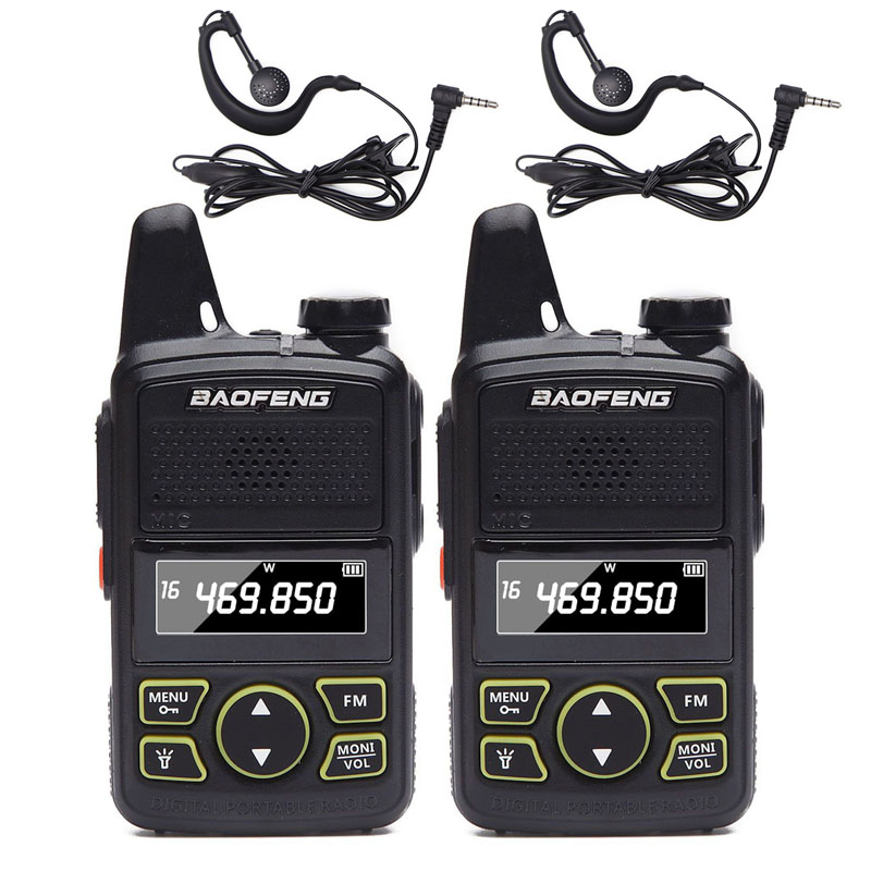 2X Baofeng Mini Radio BF-T1 UHF 400-470MHz 20CH Portable Ham FM Walkie Talkie EL