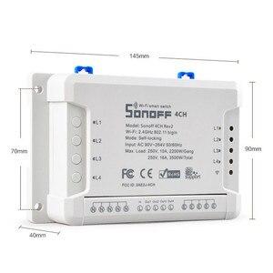 Image 3 - Itead Sonoff 4CH R2 Wifi Smart Switch 4 Gang Draadloze Afstandsbediening WiFi Lichtschakelaar App Controle Smart Home 10A 2200 W Werkt met Google