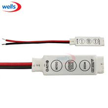 Best price 5pcs DC 12V 3Key Mini RGB  Led Controler For 5050 3528  LED Strip Light