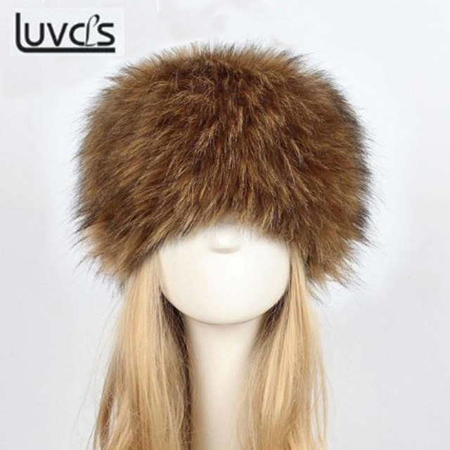 a0809eb2eb8cf1 LUVCLS Winter Earflap Cap Fashion Women Lady Fluffy Faux Rabbit Fur Cossack  Style Russian Winter Warm Women Soft Caps Hats