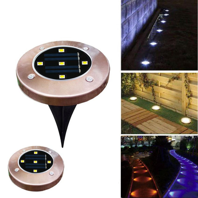 5 Led Lamp Solar Power Buried Light Ground With Outdoor Path Garden