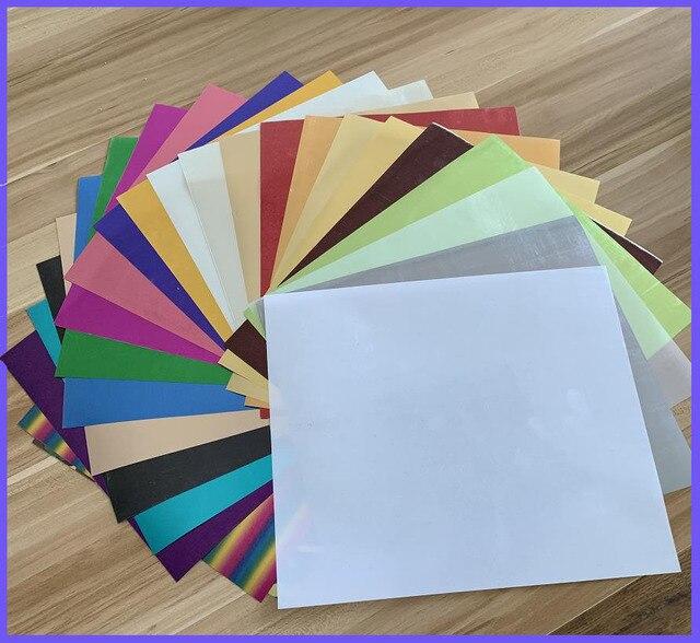 Бесплатная доставка 25 листов/цветов 25x30 см металлический теплообмен виниловый Утюг на термопресс машина режущий плоттер HTV футболка Распродажа!