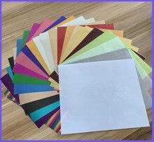 Gratis Verzending 25 Sheets/Kleuren 25X30 Cm Metallic Warmteoverdracht Vinyl Ijzer Op Warmte Persmachine Snijden plotter Htv T shirt Koop!