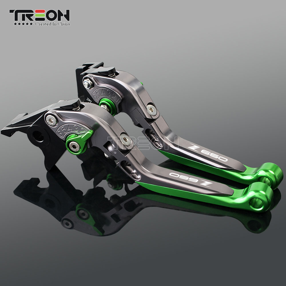Image 4 - CNC Aluminum Motorcycle Frame Ornamental Extendable Brake Clutch Lever Handle For Kawasaki Z650 Z 650 2017 2018 2019 Accessories-in Covers & Ornamental Mouldings from Automobiles & Motorcycles