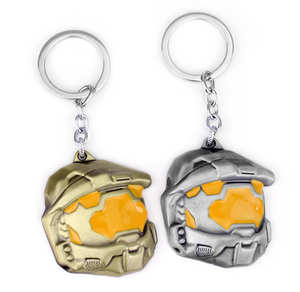 Game Halo Sparta Mask keychain key chains keyring Can 58a1a57aad05