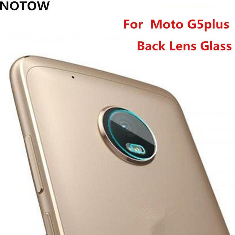 NOTOW flexible Rear Transparent Back Camera Lens Tempered Glass Film Protector Case For Motorola Moto G5plus