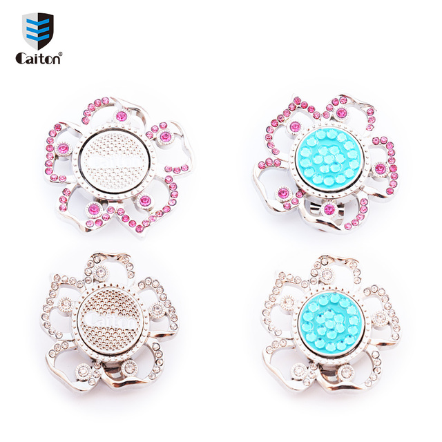 8a79dd9d4 Caiton Crystal flower golf ball markers with magnetic hat clip premium golf  gifts for women by girls golf bling