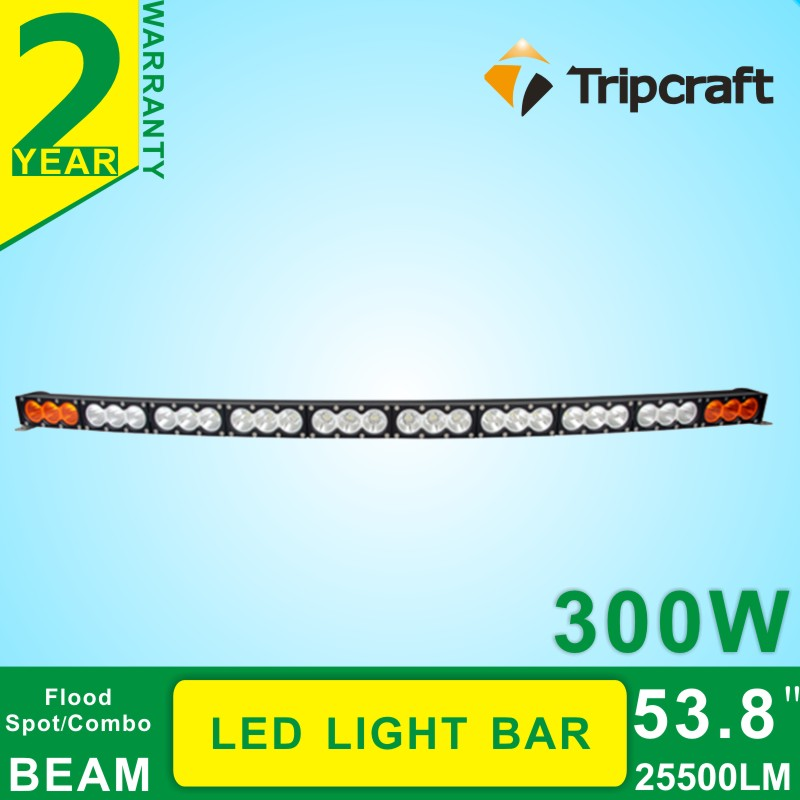 1X 53.8/'/' 300W LED Work Light Bar Combo Driving Fog Lamp Offroad Truck 4WD SUV