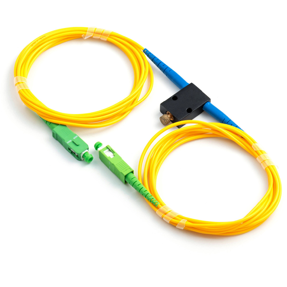 Mechanical Variable Adustable Optical Singlemode 1260-1620nm SC/APC Fiber Attenuator