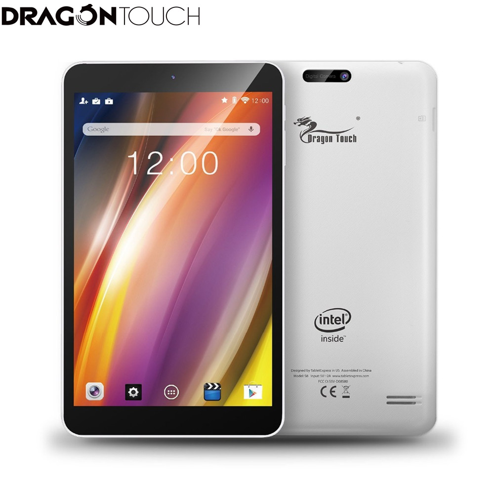 DragonTouch S8 Tablet Quad Core 1G RAM 16G Rom Wifi Google Android 5.1 Lollipop IPS Display 1280x800 Dual 2MP Camera+keyboard