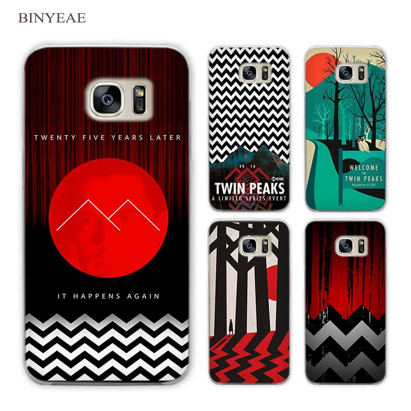 BINYEAE Welcome Twin Peaks Clear Phone Case Cover for Samsung Galaxy S3 S4 S5 Mini S6 S7 S8 Edge Plus
