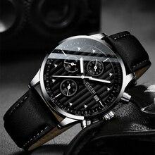メンズ腕時計トップの高級ブランドメンズ腕時計時計ファッションクォーツ腕時計男性用スポーツ防水時計男性クロノグラフ時計