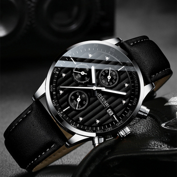 Mens Watches Top Luxury Brand Wristwatch Clock Fashion Quartz Watch Men Sports Waterproof Male Chronograph