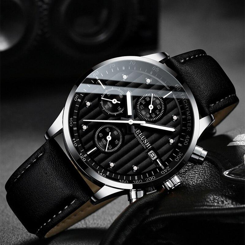 Relógio de pulso de quartzo dos homens dos esportes à prova dwaterproof água relógios masculinos cronógrafo
